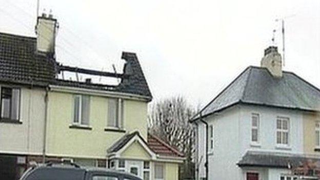 mayobridge roof damage