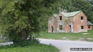 Deserted house in Imber