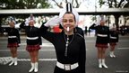 The Balclutha Junior Marching Team perform during the St. Andrew's Day celebrations held in Dunedin, New Zealand.
