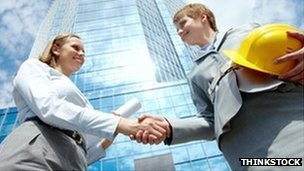 Career women handshake