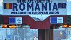 Romania/Moldova border checkpoint - file pic