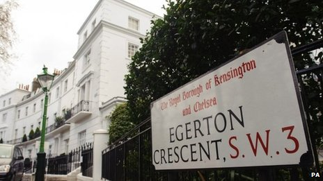 Egerton Crescent, in Kensington, London