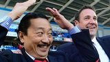 Cardiff owner Vincent Tan (left) and recently sacked manager Malky Mackay