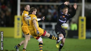 Veteran fly-half Andy Goode kicked a penalty and two conversions for Wasps.