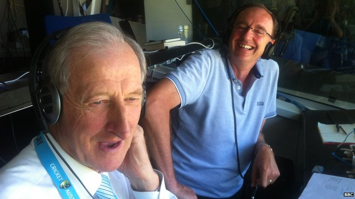 Bill Lawry joins Aggers in the TMS box