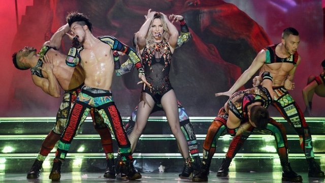 Britney Spears and dancers