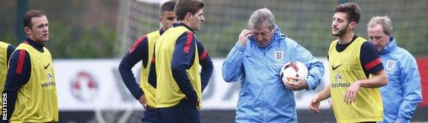 Roy Hodgson and England players