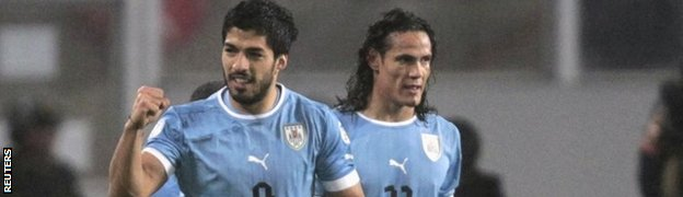 Luis Suarez and Edinson Cavani