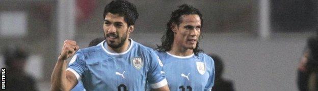 Luis Suarez and Edinson Cavani