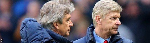 Manuel Pellegrini and Arsene Wenger