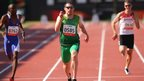 Jason Smyth powers his way to victory in the T13 200m at the IPC World Athletics Championships in Lyon - the Eglinton sprinter and Glengormley's Michael McKillop both won two gold medals in France