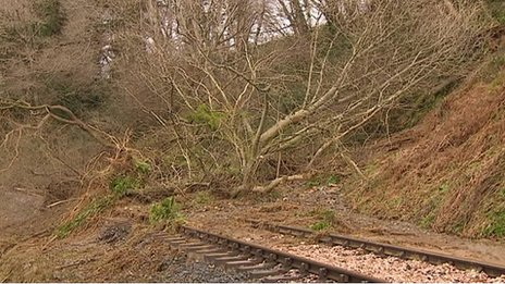 South Devon Railway landslip
