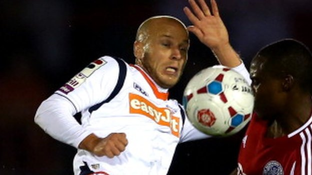 Luton Town midfielder Luke Guttridge