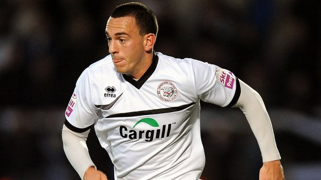 Hereford United striker Jon Brown