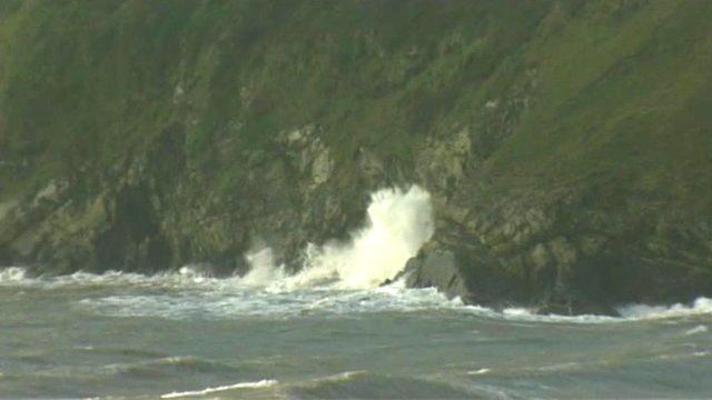 Sea at Aberdaron in Gwynedd