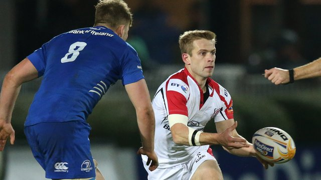 Ulster scrum-half Paul Marshall in action against Leinster