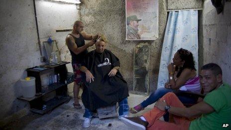 Barber in Havana