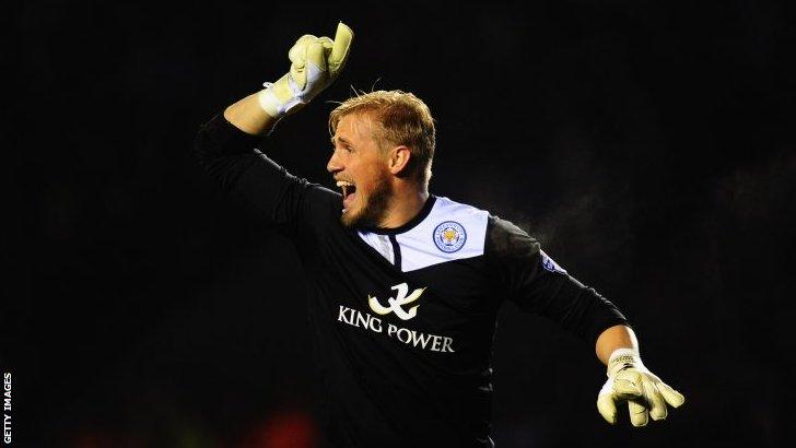 Leicester keeper Kasper Schmeichel