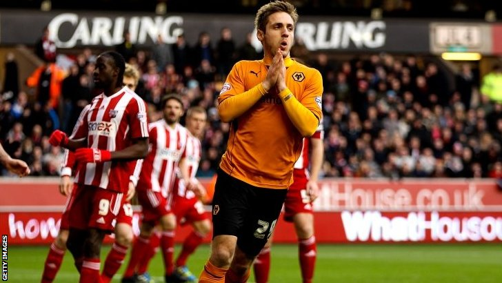 Wolves striker Kevin Doyle
