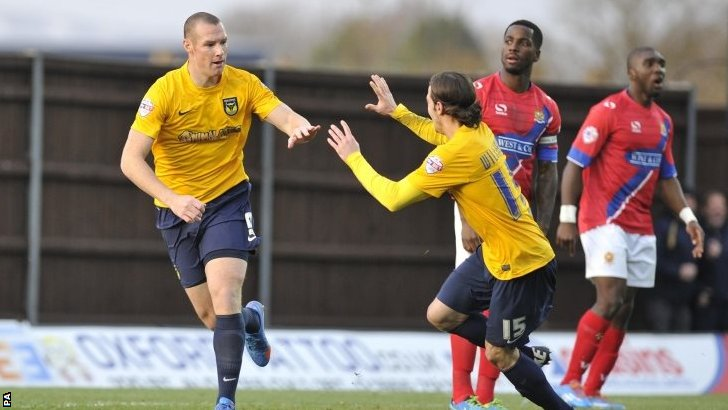 Oxford striker James Constable