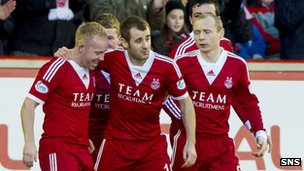 Nicky Low fired Aberdeen in front