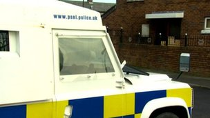 Police outside arson house