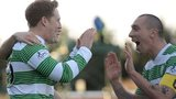 Kris Commons celebrates with Scott Brown