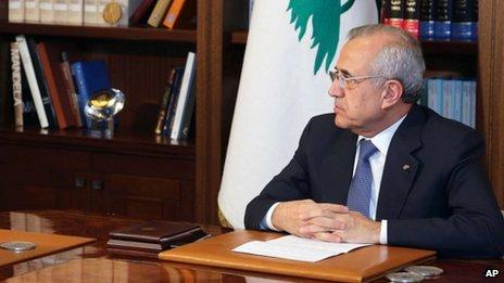 Lebanese President Michel Sleiman