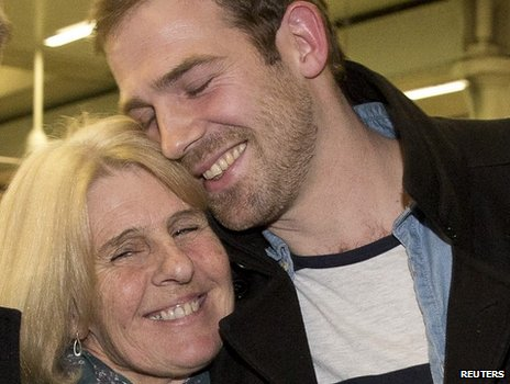 Kieron Bryan and his mother Ann
