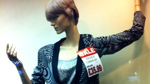 A mannequin from the store