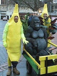 Men in banana suits