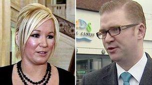 Michelle O'Neill and Simon Hamilton