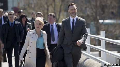 Sheridan Smith and David Morrissey in The 7.39