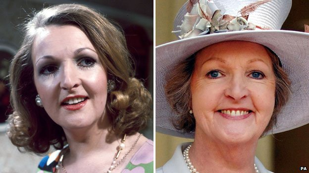 Penelope Keith as Margot in The Good Life (left)  and pictured in 2007