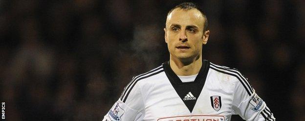 Fulham striker Dimitar Berbatov
