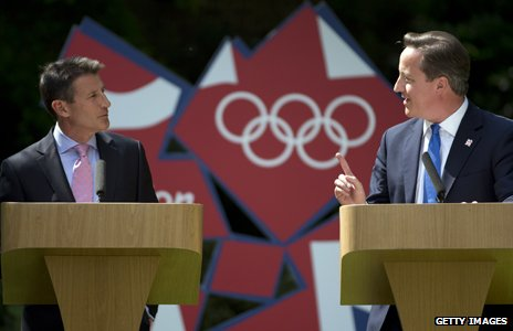Lord Sebastian Coe and David Cameron