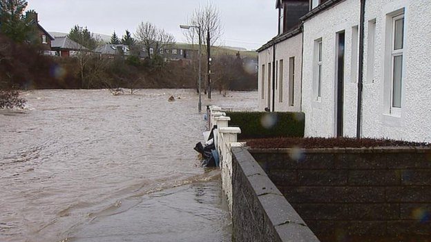 Flooding in Kirkconnel