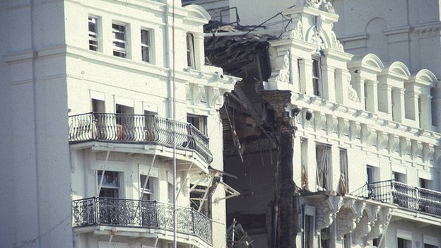 The bomb blast at Brighton's Grand Hotel left five people dead and more than 30 injured