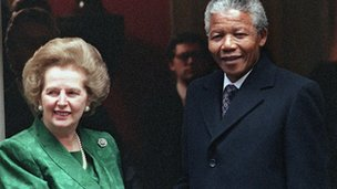 Thatcher and Mandela