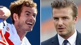 Andy Murray (left) and David Beckham