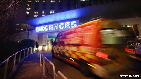 Emergency area of Grenoble Hospital