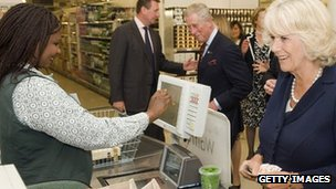 The Duchess of Cornwall and Prince Charles shopping in Waitrose