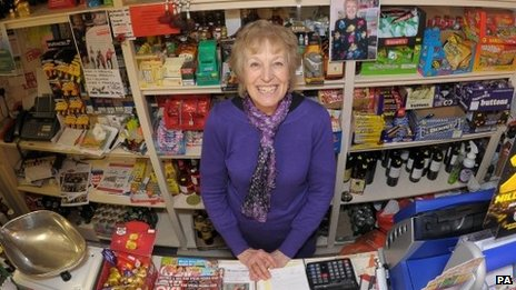 Diane Bell in her Nettleton shop