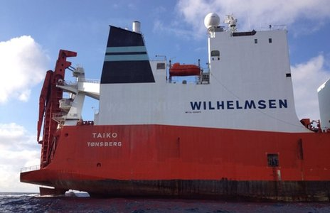 The Norwegian cargo ship, Taiko (31 December 2013)