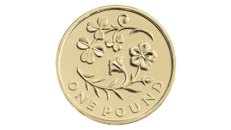 New pound coin celebrating the floral emblems of Northern Ireland