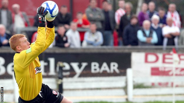 Goalkeeper Eugene Ferry has joined Coleraine