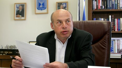 Sharansky in 2005 in his cabinet office