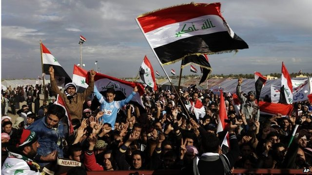 Protesters at Sunni camp in Ramadi (09/01/13)