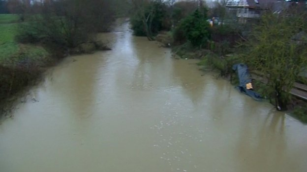 Flooding in Yalding in Kent