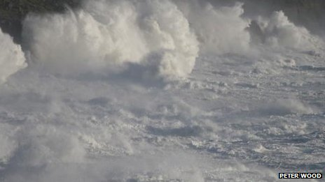 Stormy seas off Porthleven